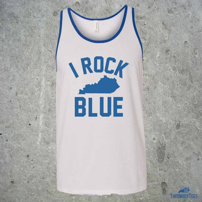 I Rock Blue - White Tank