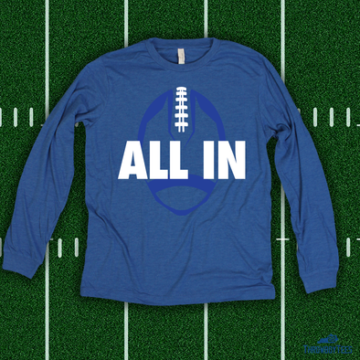 All In Football - Blue Longsleeve Tee