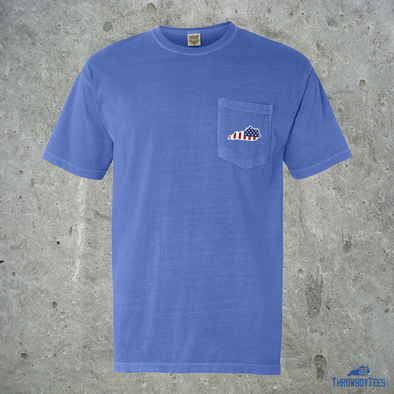 Comfort Colors Pocket Tee - Ameritucky (Flo Blue)