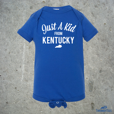 Just a Kid from Kentucky - Blue onesie
