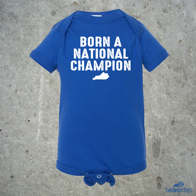 Born a National Champ - Blue onesie