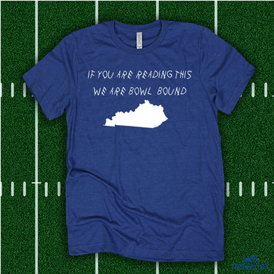 We Are Bowl Bound - blue tee