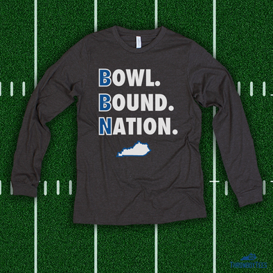 Bowl Bound Nation - grey longsleeve tee
