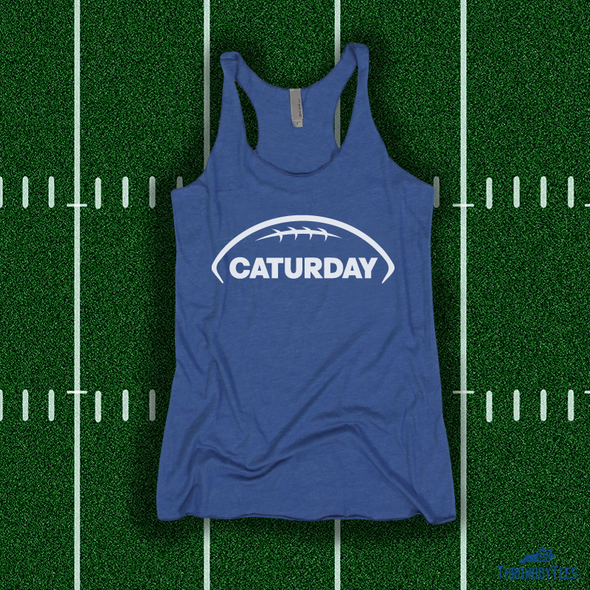 Caturday - Blue Ladies Tank