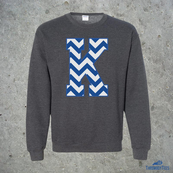 Chevron K - grey sweatshirt