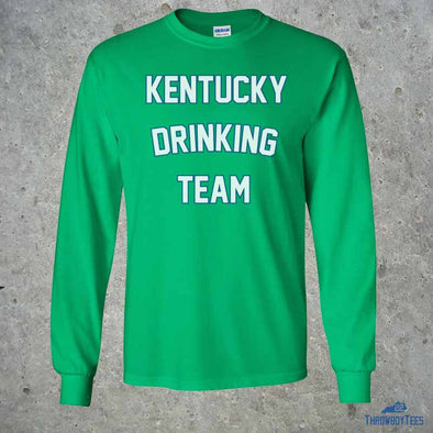 Kentucky Drinking Team St Patricks - Green Longsleeve Tee