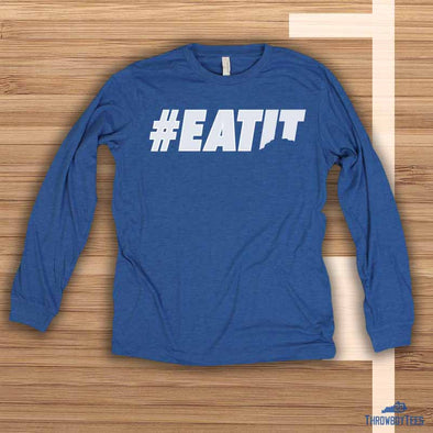Eat It - Blue Longsleeve Tee