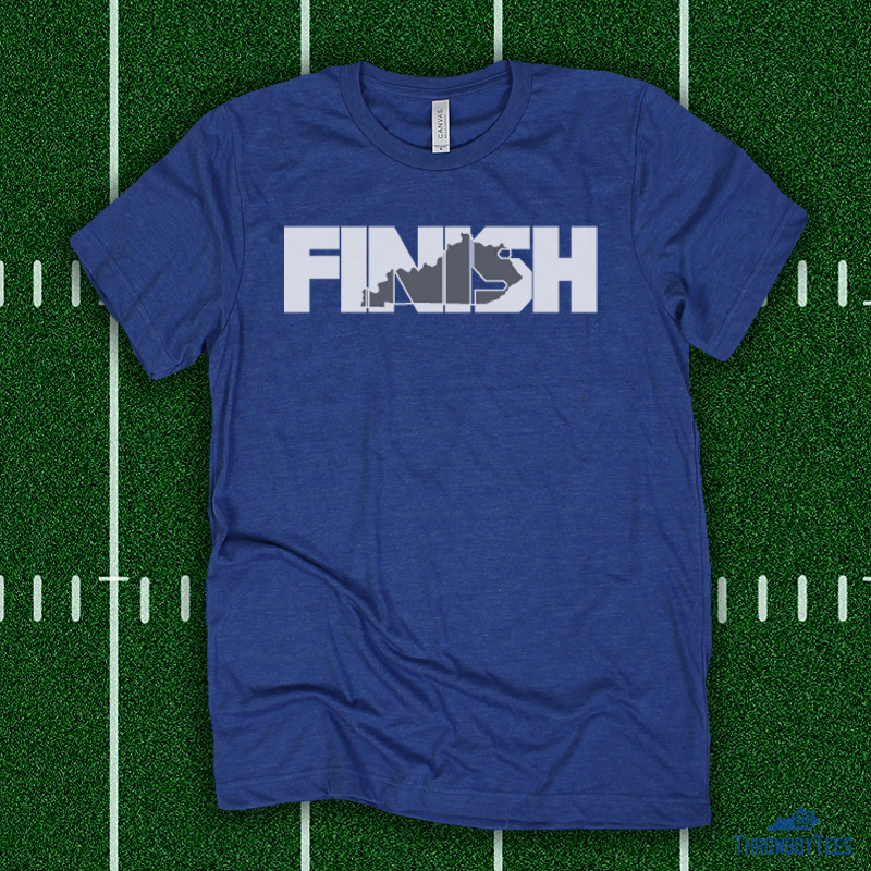 FINISH - Blue Tee