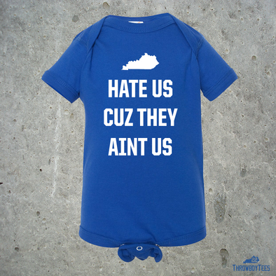 They Hate Us - Blue onesie