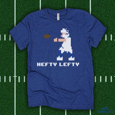 8 Bit Hefty Lefty - Blue Tee (Jared Lorenzen Collection)