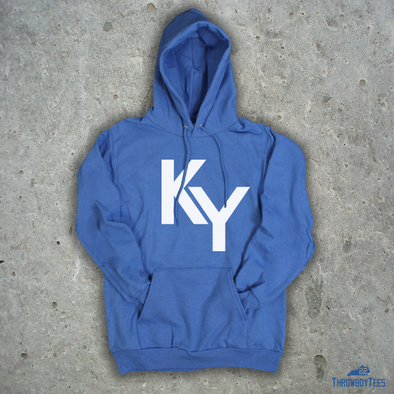 KY Text - Blue Hoodie