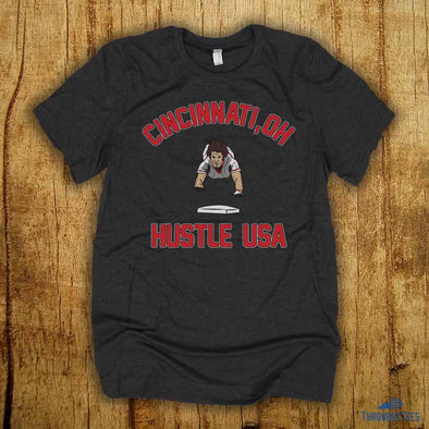 Hustle USA - Grey Tee