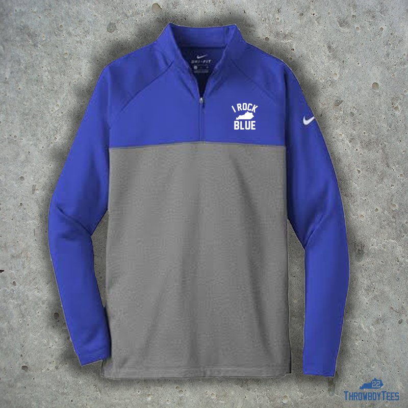 984eaaca21f4 Nike I Rock Blue Therma-Fit 1/4 Zip Jacket – ThrowboyTees