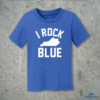I Rock Blue Toddler Tee