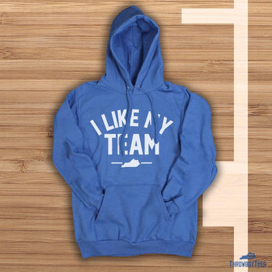 I like my team - royal hoodie