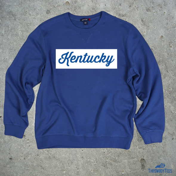 Kentucky Square - blue sweatshirt