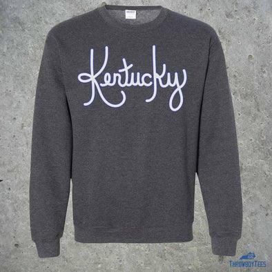 Kentucky Cursive - grey sweatshirt