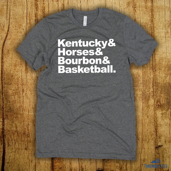 Kentucky Horses Bourbon Basketball (grey)