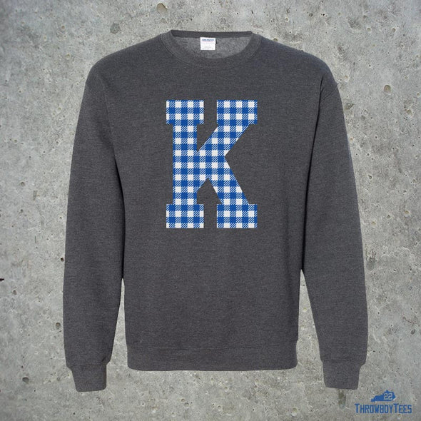 Gingham K - grey sweatshirt