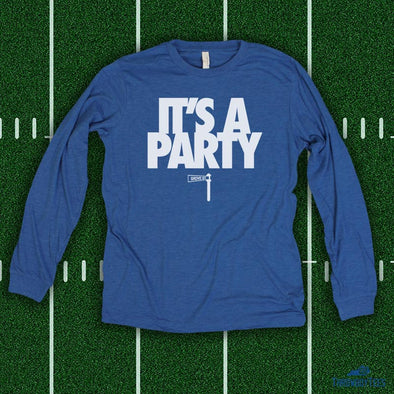 It's a Party - Blue Longsleeve Tee
