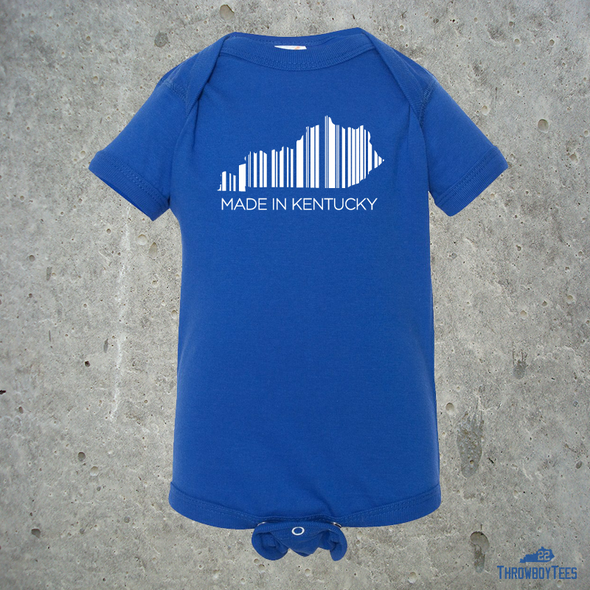 Made in Kentucky - Blue onesie