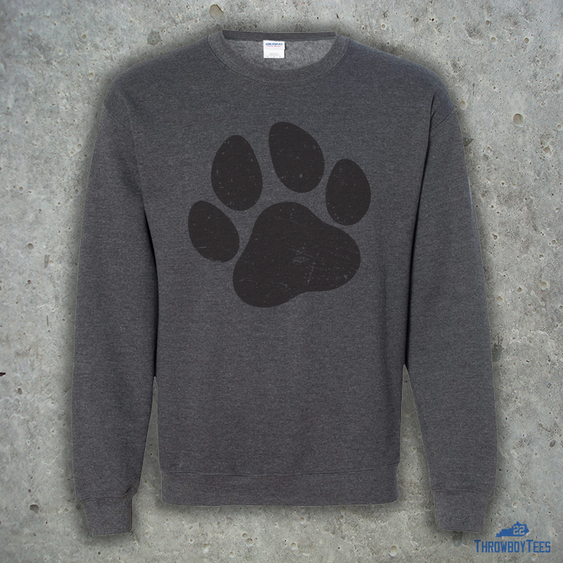 Paw Print Crewneck Grey Throwboytees Choose from 110+ paw prints graphic resources and download in the form of png, eps, ai or psd. throwboytees