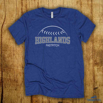 Fastpitch - Blue tee (Highlands High School Collection)