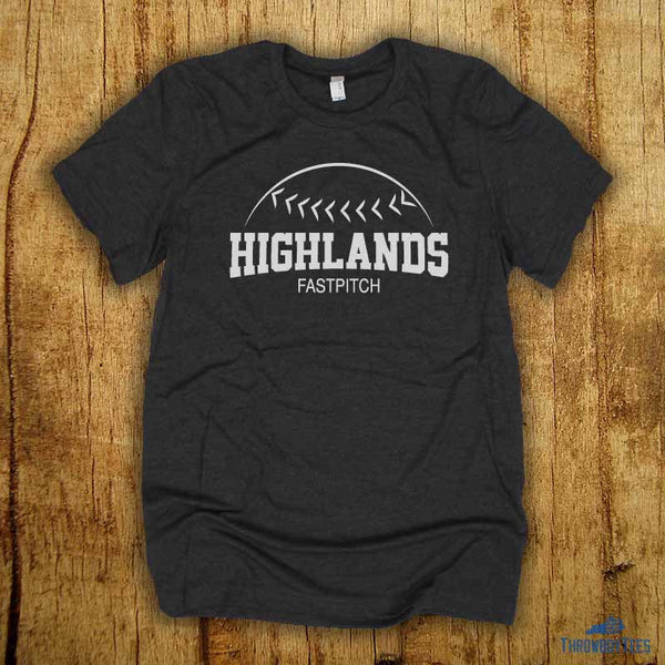 Fastpitch - Grey tee (Highlands High School Collection)
