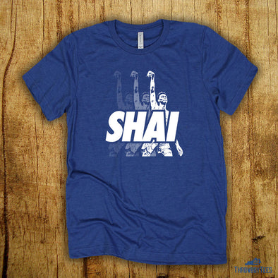 Shai Threes - Royal Tee (Shai Gilgeous-Alexander Collection)