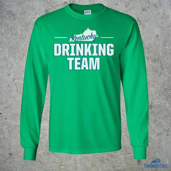 State Drinking Team - Green Longsleeve Tee
