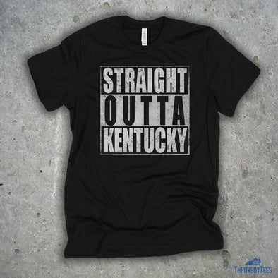 Straight Outta Kentucky - Black Tee