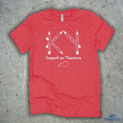 Support Our Teachers - Heather Red