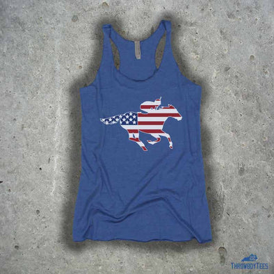 USA Jockey - ladies blue tank