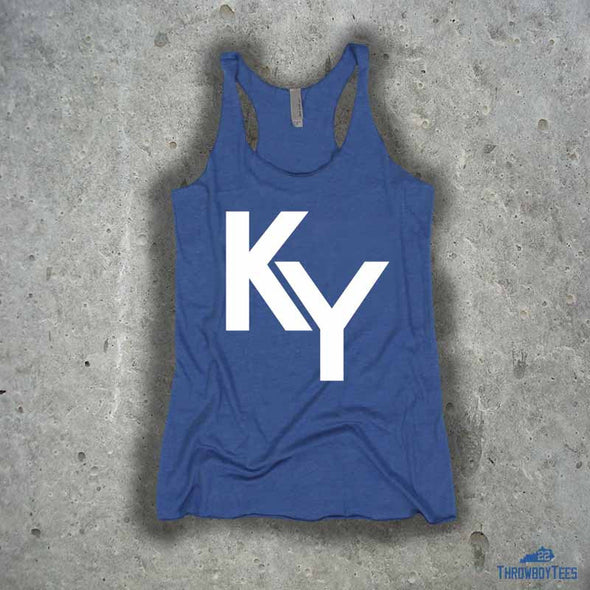 KY Text - ladies blue tank