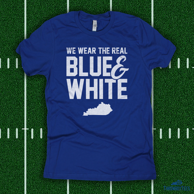 Real Blue & White