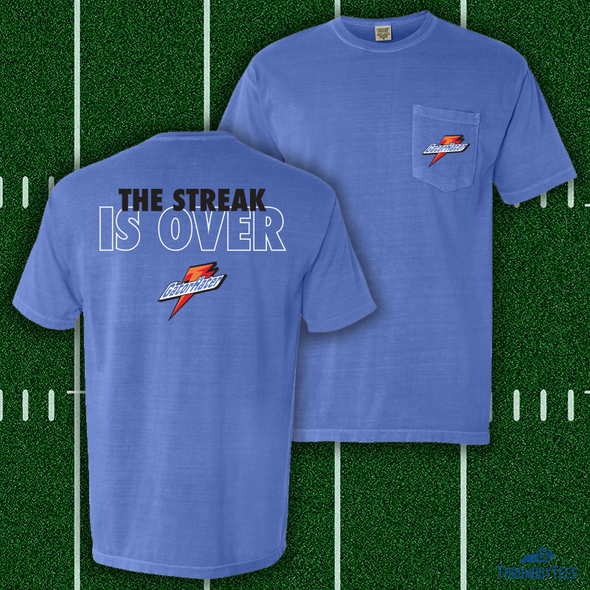 Streak Is Over Pocket Tee - Blue