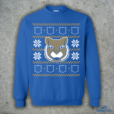 Wildcat Ugly Sweater - Blue Sweatshirt