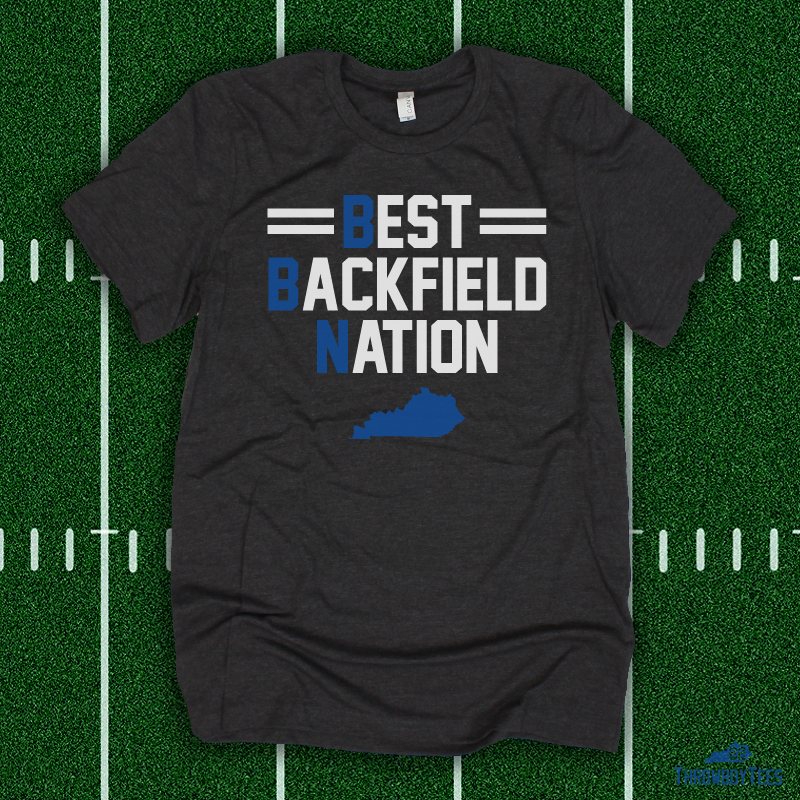 Best Backfield Nation - grey tee