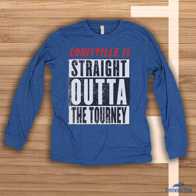 Straight outta the tourney - Blue longsleeve tee