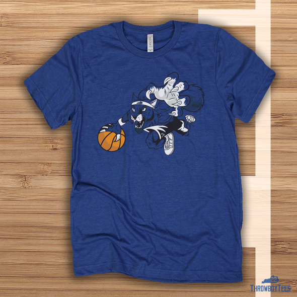 Basketball Cat - Blue Tee