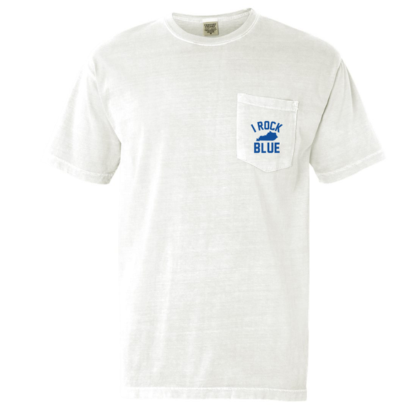Comfort Colors Pocket Tee - I Rock Ky Blue (white)