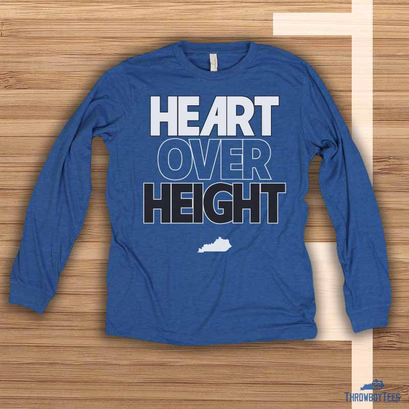 Heart over Height - blue longsleeve tee