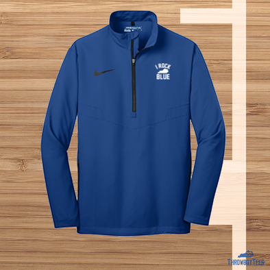 Nike I Rock Blue 1/4 zip windbreaker