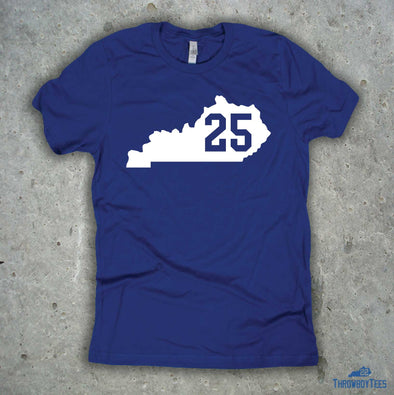 Kentucky Number Tee - #25