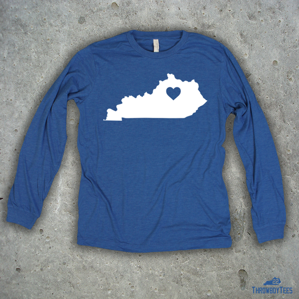 Kentucky Solid - Blue Longsleeve Tee