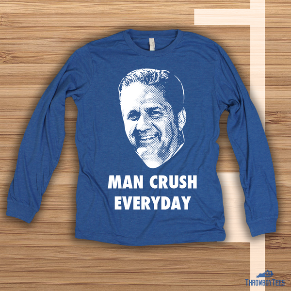 Man Crush - Blue longsleeve tee