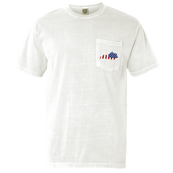 Comfort Colors Pocket Tee - Ameritucky (white)