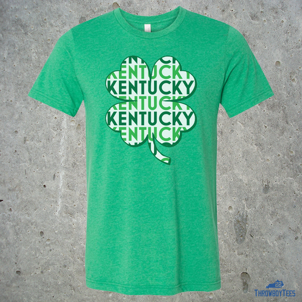 Kentucky Text Clover - Green Tee