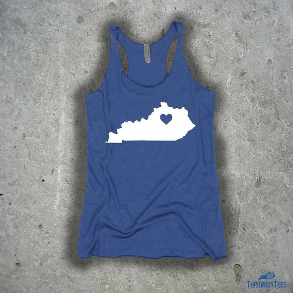 Kentucky Solid - ladies blue tank