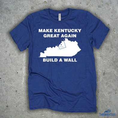 Build a Wall - Blue Tee